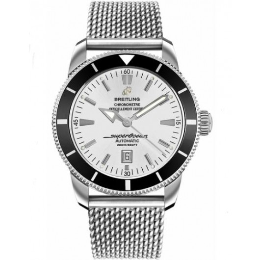 Captain Replica Watch - Breitling Superocean Heritage 46 Silver Dial Steel A1732024/G642-152A