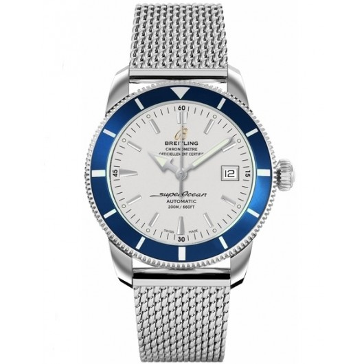 Captain Replica Watch - Breitling Superocean Heritage 42 Steel Silver and Blue A1732116/G717