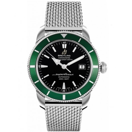 Captain Replica Watch - Breitling Superocean Heritage 42 Steel Black Green Bezel A1732136/BA61