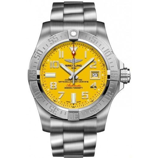 Captain Replica Watch - Breitling Avenger II Seawolf Steel Yellow Dial A1733110/I519/169A