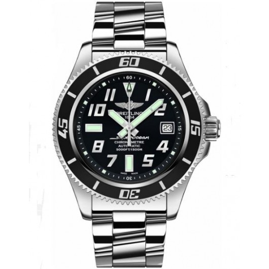 Captain Replica Watch - Breitling Superocean 42 Black Dial Steel A1736402/BA28-161A