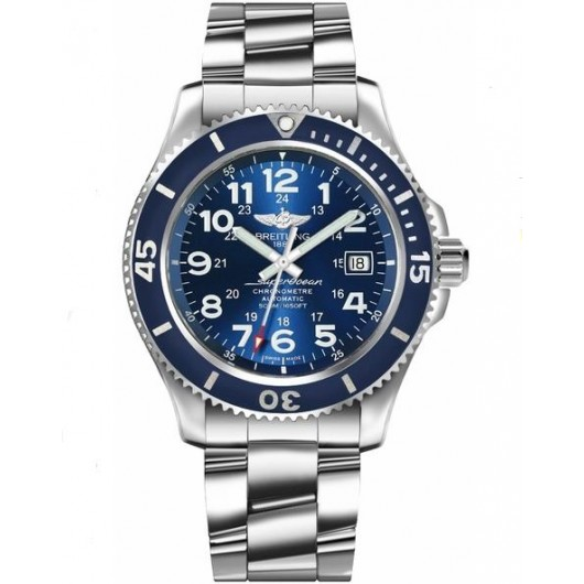 Captain Replica Watch - Breitling Superocean II 42 Stainless Steel Blue Dial A17365D1/C915
