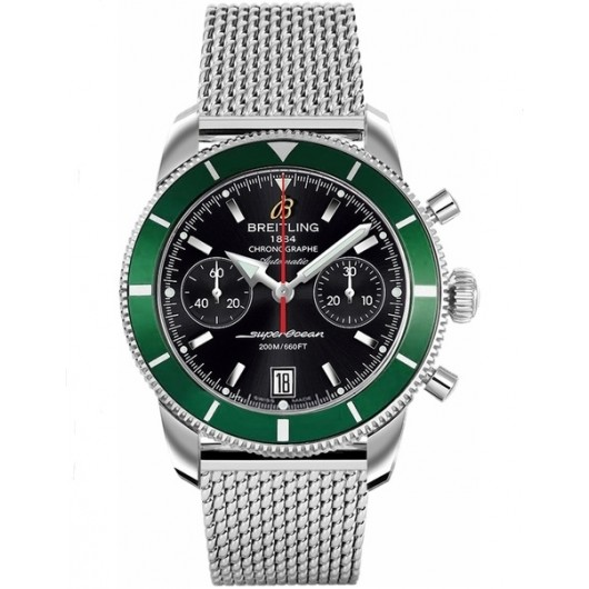 Captain Replica Watch - Breitling Superocean Heritage Chronograph 44 Black and Green A2337036/BB81