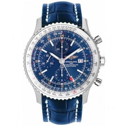 Captain Replica Watch - Breitling Navitimer World Blue Dial A2432212/C651/746P