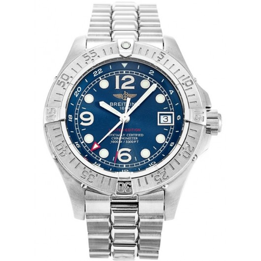 Captain Replica Watch - Breitling Superocean Steelfish Steel Blue Dial A32360