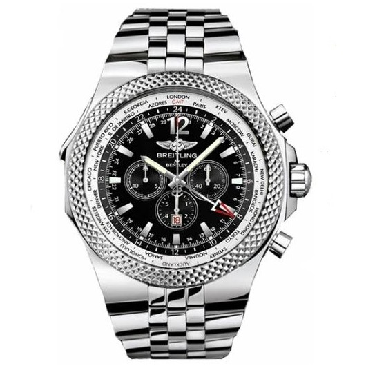 Captain Replica Watch - Breitling Bentley GMT Steel Black Dial A4736212/B919/998A