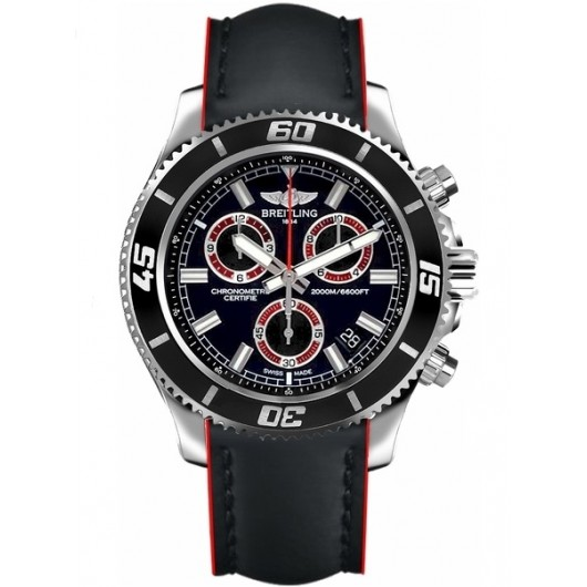 Captain Replica Watch - Breitling Superocean Chronograph M2000 Black and Red A73310A8/BB72