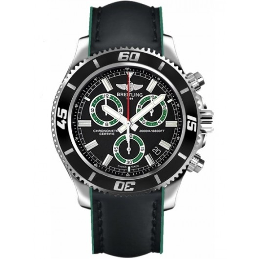 Captain Replica Watch - Breitling Superocean Chronograph M2000 Black and Green A73310A8/BB75