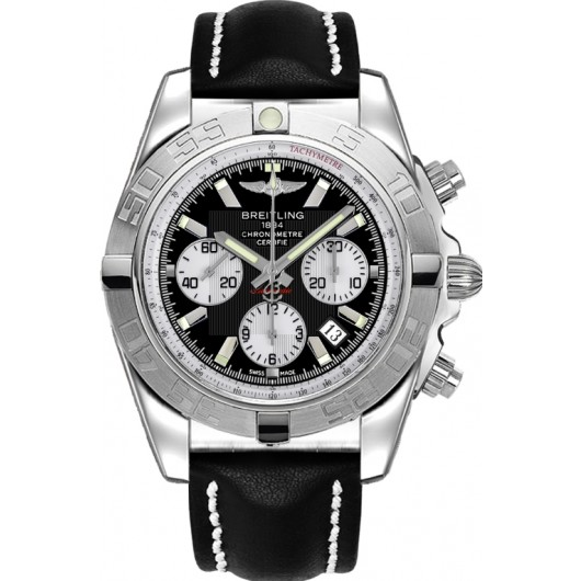 Captain Replica Watch - Breitling Chronomat 44 Black Dial Silver Subdials AB011011/B967/435X