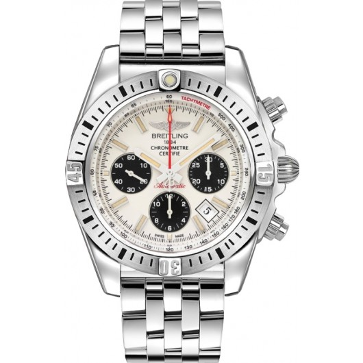 Captain Replica Watch - Breitling Chronomat 44 Airborne Silver Dial AB01154G/G786