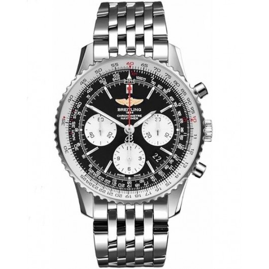Captain Replica Watch - Breitling Navitimer 01 Chronograph 43mm Steel Black Dial AB012012/BB01/447A