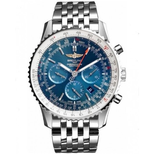 Captain Replica Watch - Breitling Navitimer 01 Chronograph 46mm Steel Blue Dial AB012721/C889/443A