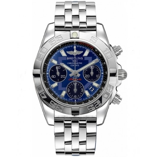 Captain Replica Watch - Breitling Chronomat 41 Steel Blue Dial AB014012/C830/378A