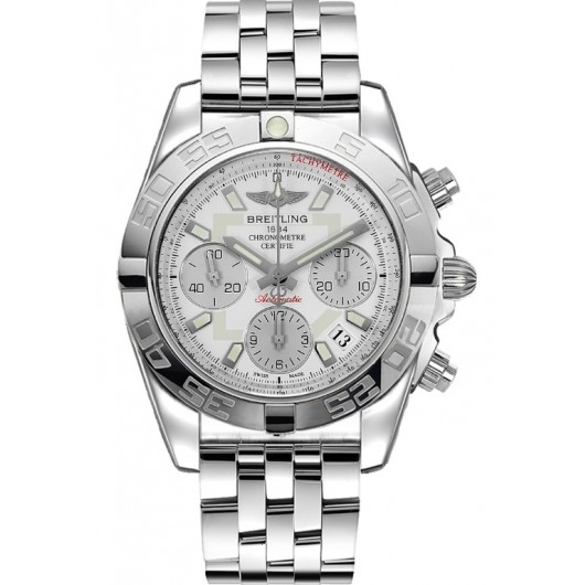 Captain Replica Watch - Breitling Chronomat 41 Steel Silver Dial AB014012/G711/378A