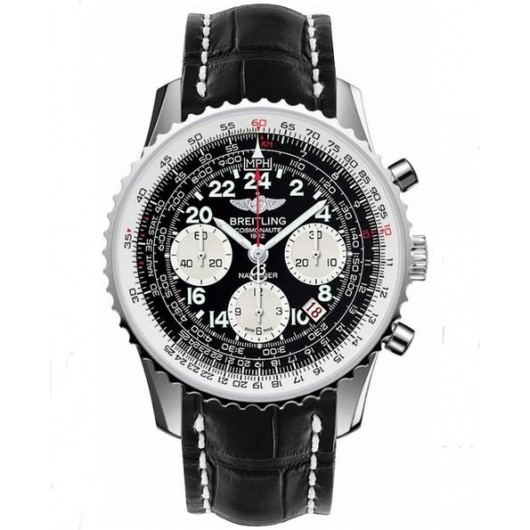 Captain Replica Watch - Breitling Navitimer Cosmonaute Black Dial Chronograph AB021012/BB59/744P