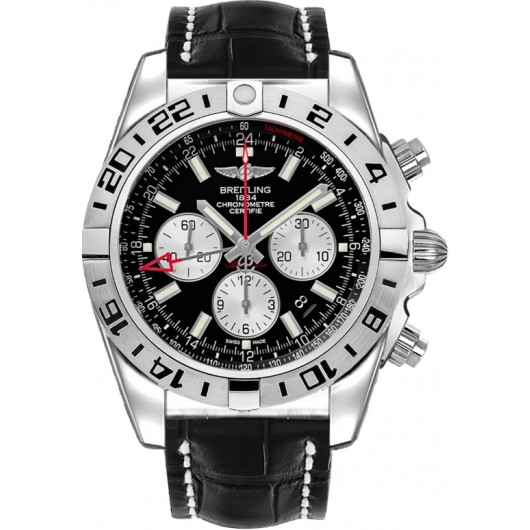 Captain Replica Watch - Breitling Chronomat GMT Onyx Black Dial AB0413B9/BD17