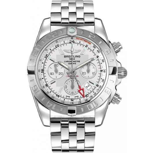 Captain Replica Watch - Breitling Chronomat 44 GMT Steel Silver Dial AB042011/G745