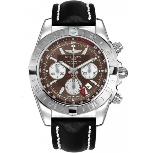 Captain Replica Watch - Breitling Chronomat 44 GMT Brown Dial Silver Subdials AB042011/Q589/435X