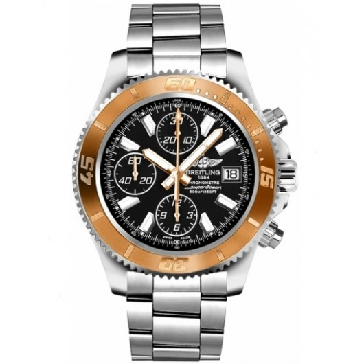 Captain Replica Watch - Breitling Superocean Chronograph II Rose Gold Bezel C1334112/BA84