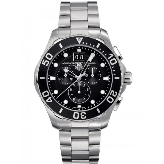 Captain Replica Watch - TAG Heuer Aquaracer Grande Date Chronograph Black Dial CAN1010.BA0821