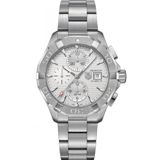 Captain Replica Watch - TAG Heuer Aquaracer 300M Chronograph 43mm Silver Dial CAY2111.BA0927
