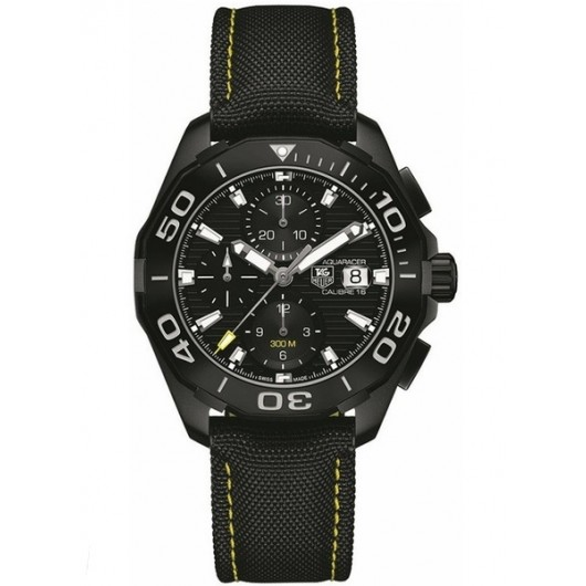Captain Replica Watch - TAG Heuer Aquaracer 300M Chronograph 43mm Black Titanium CAY218A.FC6361