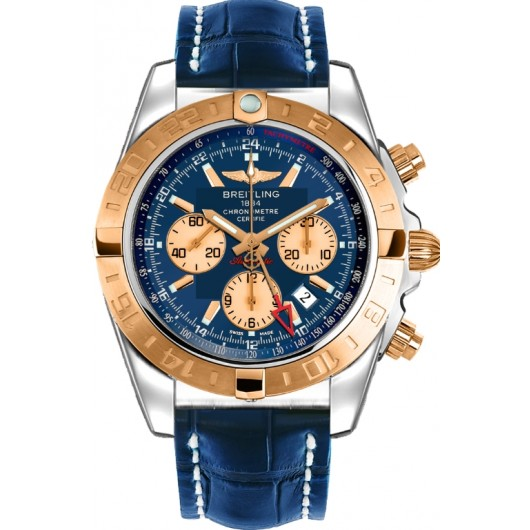 Captain Replica Watch - Breitling Chronomat 44 GMT Two Tone Blue Dial CB042012/C858