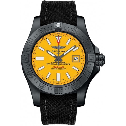 Captain Replica Watch - Breitling Avenger II Seawolf Yellow Dial M17331E2/I530/109W