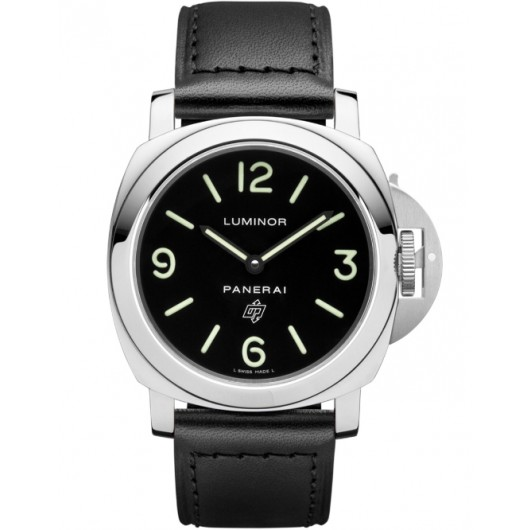 Captain Replica Watch - Panerai Luminor Base Logo 44mm Black Dial PAM00000