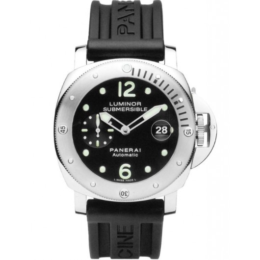 Captain Replica Watch - Panerai Luminor Submersible 44mm Black Dial PAM00024