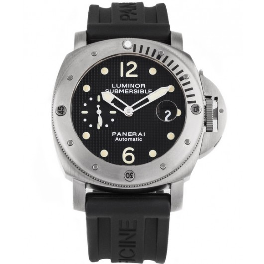 Captain Replica Watch - Panerai Luminor Submersible 44mm Black Dial PAM00025