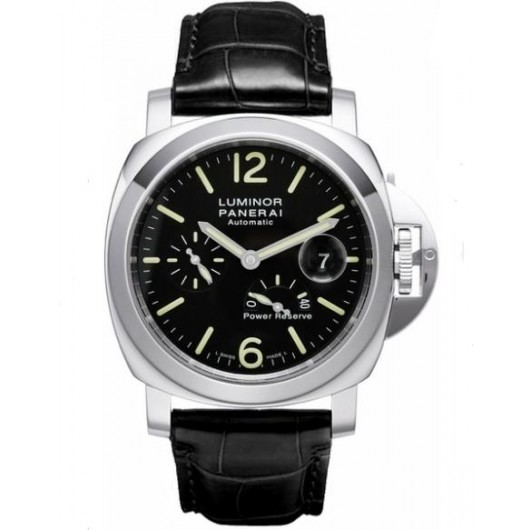 Captain Replica Watch - Panerai Luminor Power Reserve 44mm Black Dial PAM00090