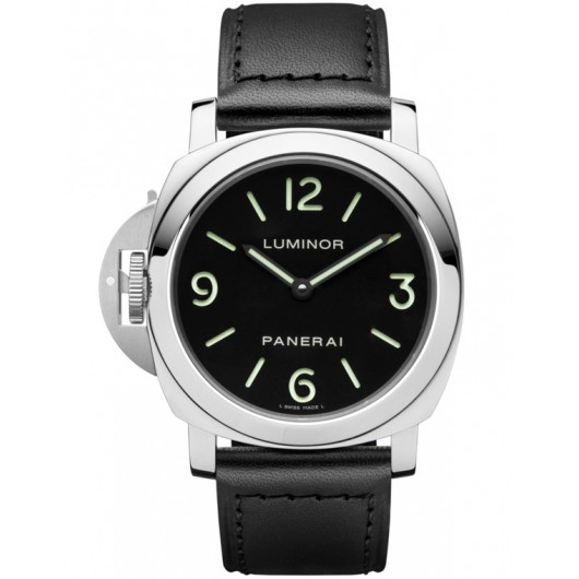Captain Replica Watch - Panerai Luminor Base Left-Handed 44mm Black Dial PAM00219