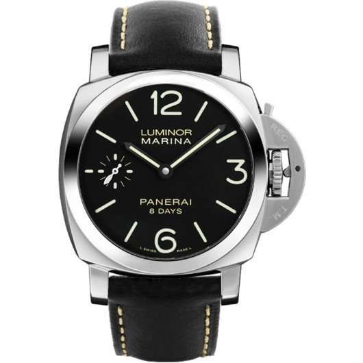 Captain Replica Watch - Panerai Luminor Marina 8 Days 44mm Black Dial PAM00510