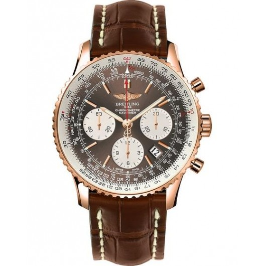 Captain Replica Watch - Breitling Navitimer 01 43mm Rose Gold Bronze Dial RB012012/Q606/739P