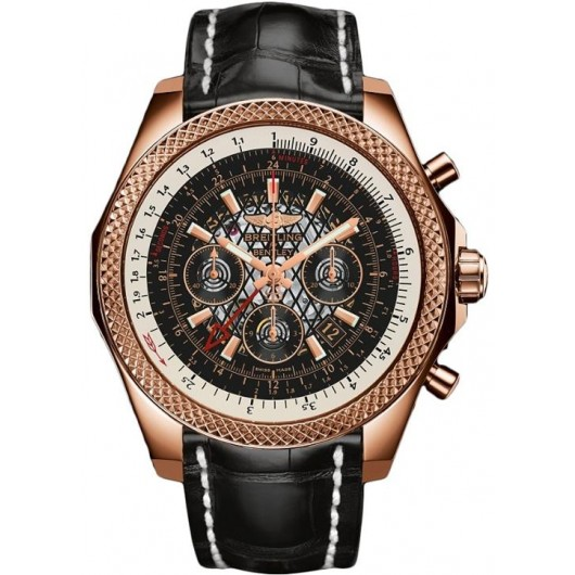 Captain Replica Watch - Breitling Bentley GMT Rose Gold Black Dial RB043112/BC70/760P