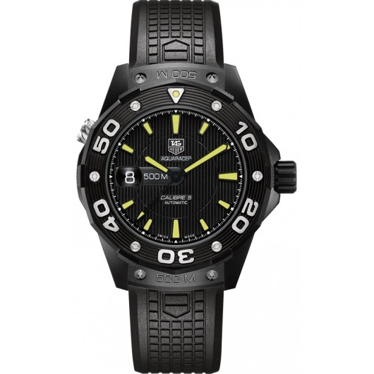 Captain Replica Watch - TAG Heuer Aquaracer 500M Calibre 5 Black Titanium WAJ2180.FT6015