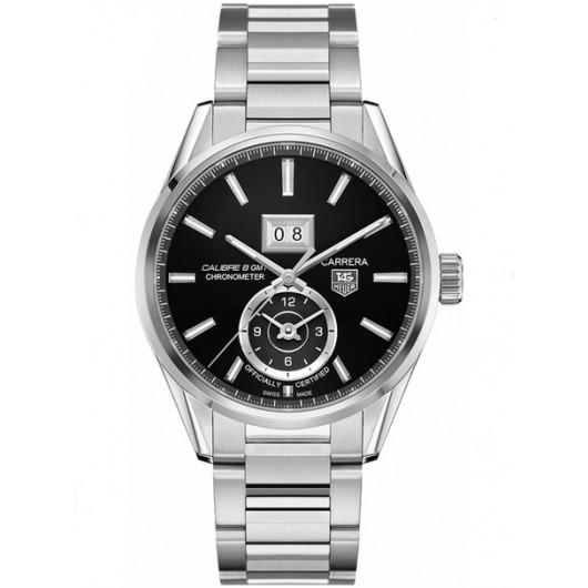 Captain Replica Watch - TAG Heuer Carrera Calibre 8 GMT Steel Black Dial WAR5010.BA0723