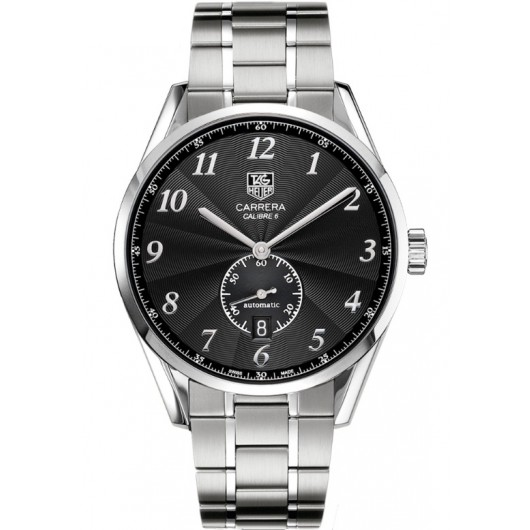 Captain Replica Watch - TAG Heuer Carrera Heritage Calibre 6 Steel Black Dial WAS2110.BA0732