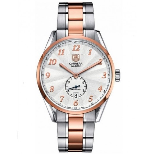 Captain Replica Watch - TAG Heuer Carrera Heritage Calibre 6 Steel and Rose Gold WAS2151.BD0734