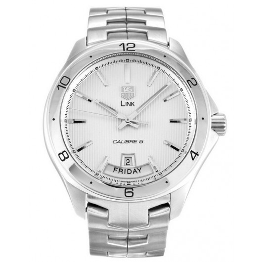 Captain Replica Watch - TAG Heuer Link Calibre 5 Day Date Silver Dial WAT2011.BA0951