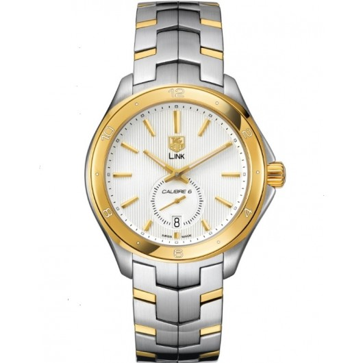 Captain Replica Watch - TAG Heuer Link Calibre 6 Two Tone Silver Dial WAT2150.BB0953