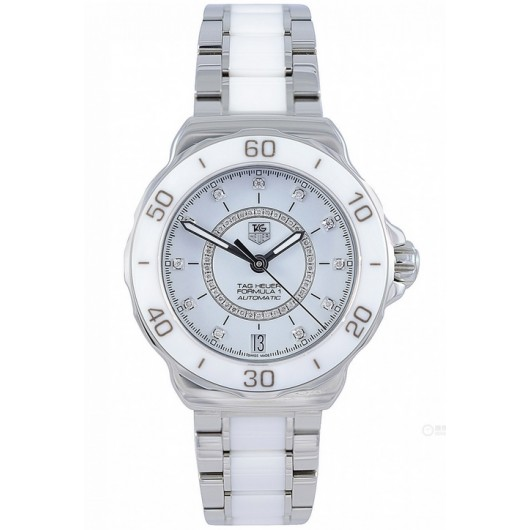 Captain Replica Watch - TAG Heuer Formula 1 Lady Diamond White Ceramic WAU2211.BA0861