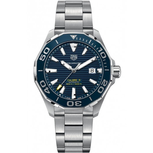 Captain Replica Watch - TAG Heuer Aquaracer Calibre 5 300M Steel Blue Dial WAY201B.BA0927