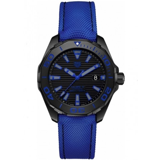 Captain Replica Watch - TAG Heuer Aquaracer 300M 43mm Black Dial with Blue WAY208B.FC6382