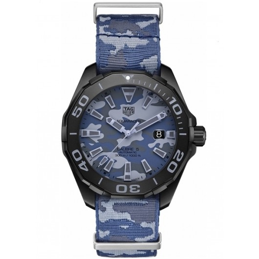Captain Replica Watch - TAG Heuer Aquaracer 300M 43mm Camouflage Blue WAY208D.FC8221