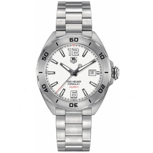 Captain Replica Watch - TAG Heuer Formula 1 Calibre 5 White Dial Steel WAZ2114.BA0875
