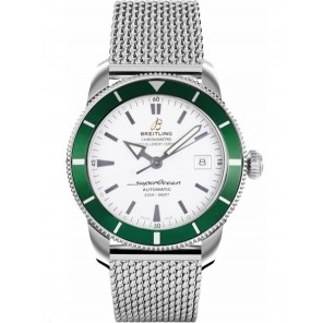 Captain Replica Watch - Breitling Superocean Heritage 42 Steel Silver and Green A1732136/G717