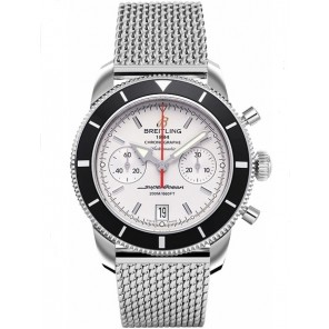 Captain Replica Watch - Breitling Superocean Heritage Chronograph 44 Silver and Black A2337024/G753