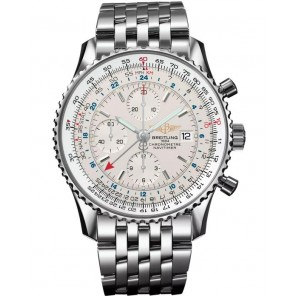 Captain Replica Watch - Breitling Navitimer World Stainless Steel Silver Dial A2432212/G571